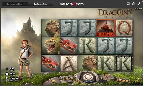 Spelautomat Dragons Myth hos Betsafe