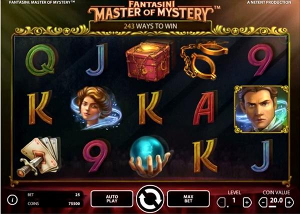 Ny spelautomat Fantasini Master of Mystery