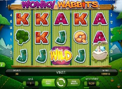 Spelautomat Wonky Wabbits NetEnt