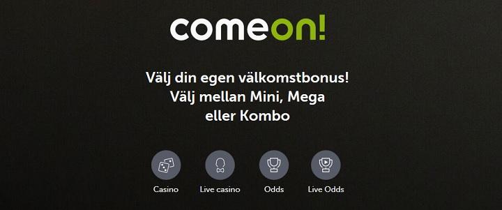 Nya casinobonusar hos ComeOn