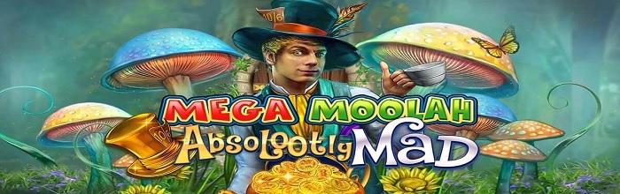 Jackpottspelet Absolootly Mad Mega Moolah är ett spel med stora jackpottar hos Snabbare