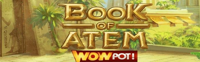 Book of Atem ett spel med jackpottar hos Snabbare