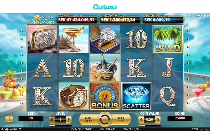 Mega Fortune Dreams hos Casumo