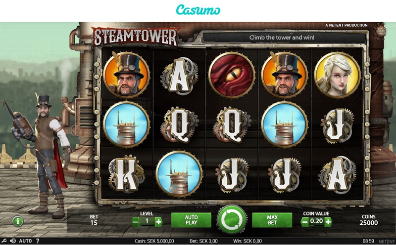Steam Tower hos Casumo
