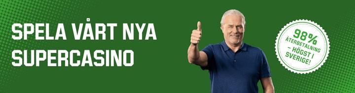 98% återbetalning i Unibet Supercasino